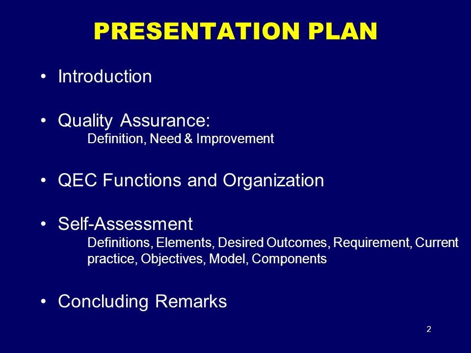 objectives of quality assurance