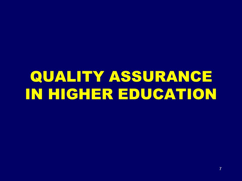 quality enhancement in higher education Quality enhancement project – raising student success university world news or higher education conference last month on the che's quality enhancement.
