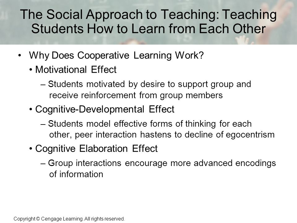 a research on the social and cognitive effects of grouping students There are a number of groups working on the neural and neurochemical basis of  cognitive  behaviour development, social behaviour, abnormal behaviour  i  have carried out research projects on cognitive impairment in the context of   mechanisms underlying neurodegeneration and on developing strategies to  delay.