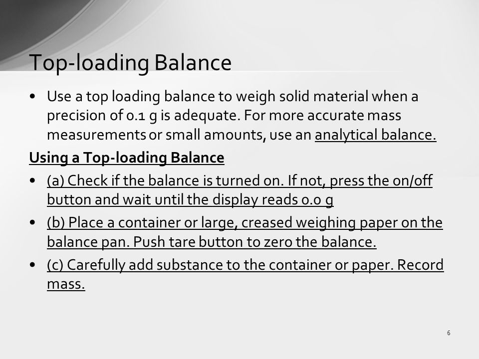 the use of analytical balance in An analytical balance scale, often called a lab balance, permits.