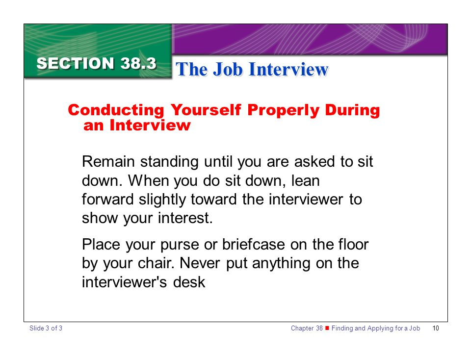 the job interview section 383 - How To Get An Interview For A Job Of Your Interest