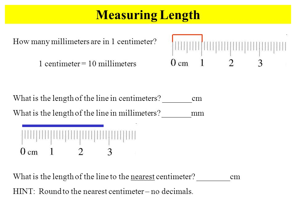 Drawing Lines To The Nearest Cm : Conversions mass length and volume ppt download