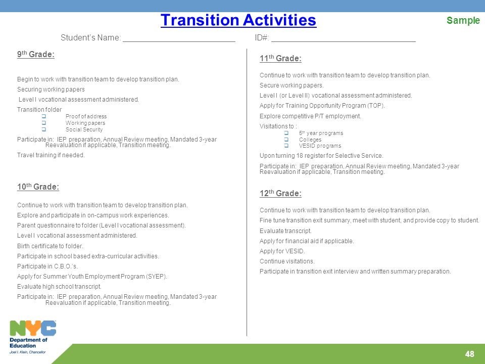 Highlighting Transition And The Iep - Ppt Download