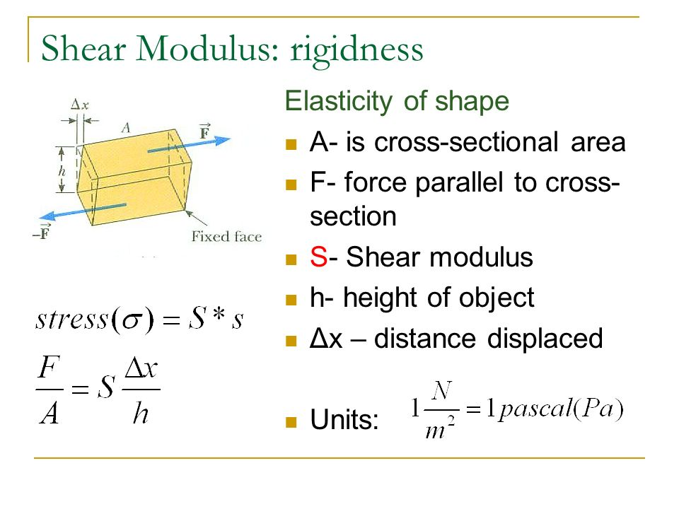 shear modulus and elastic relationship goals