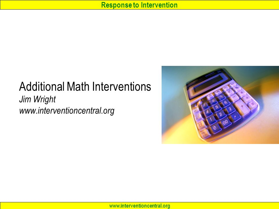RTI Teams: Best Practices in Elementary Mathematics Interventions ...
