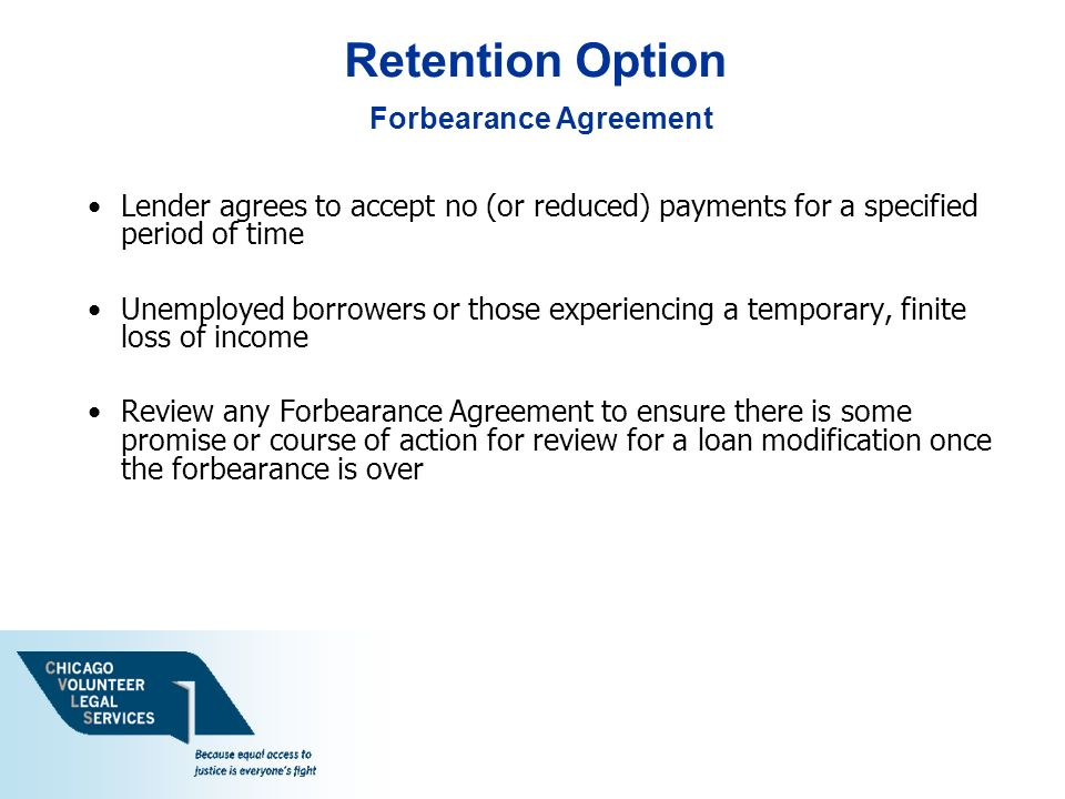 Forbearance Agreement Template  MandegarInfo