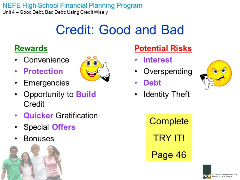 Unit 4 good debt bad debt ppt video online download 13 credit ccuart Images