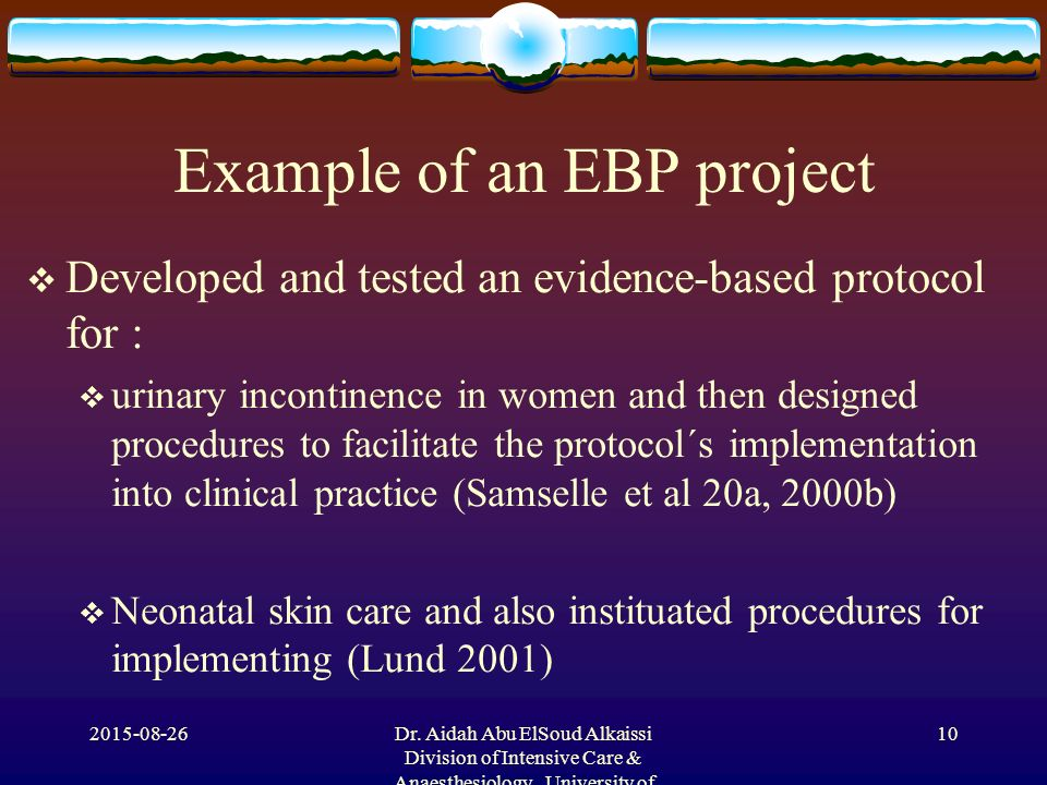 Examples Of Evidence Based Practice Choice Image Example Cover
