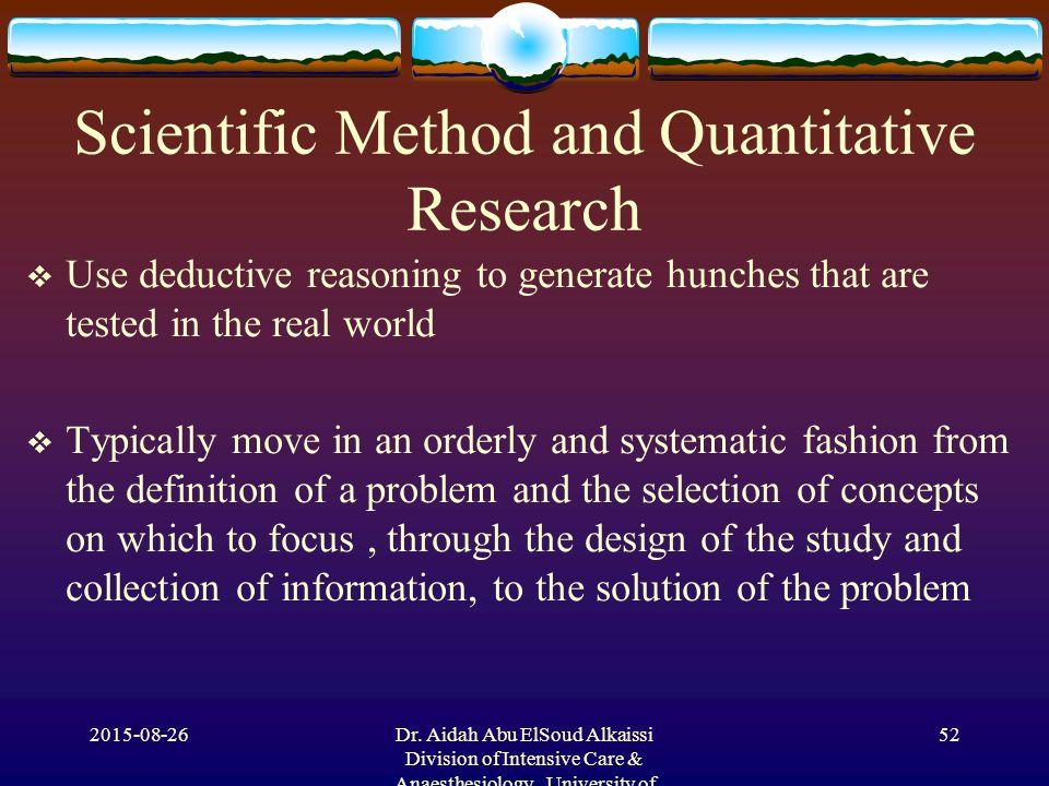 quantitative research method definition pdf