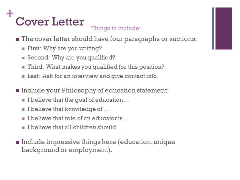 15 cover - Things To Include In A Cover Letter