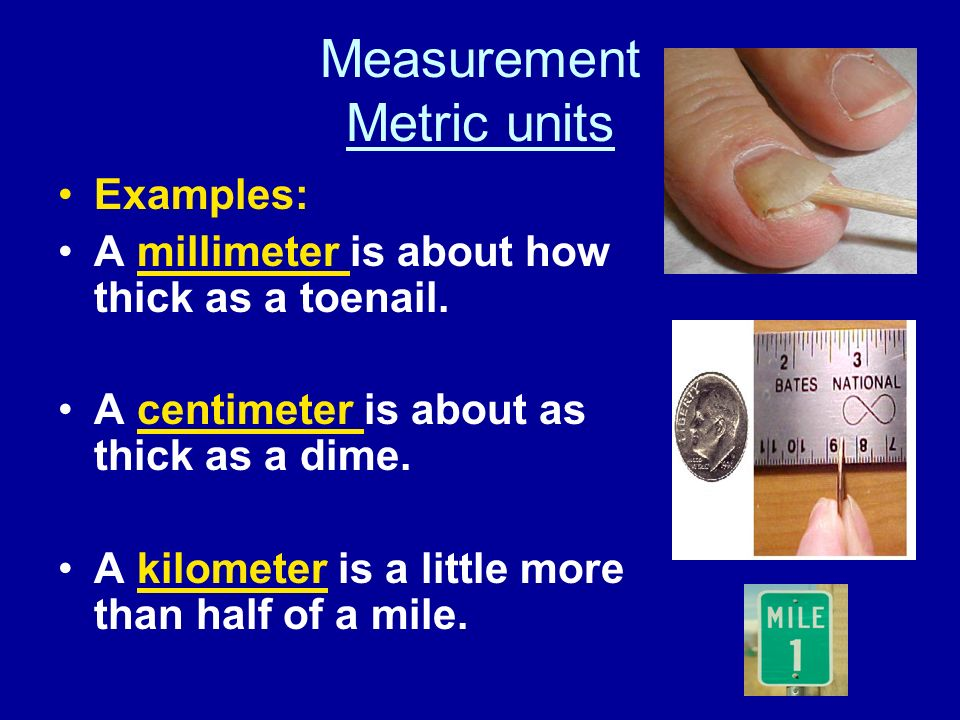 Measurement Metric units