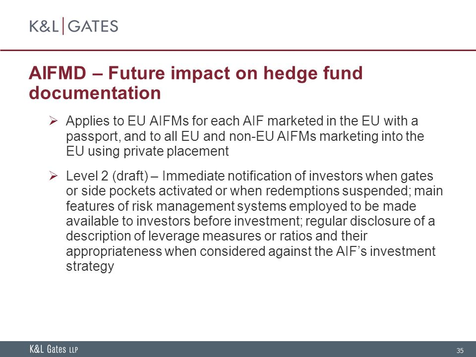 Hedge Fund Documentation Current Issues And Industry
