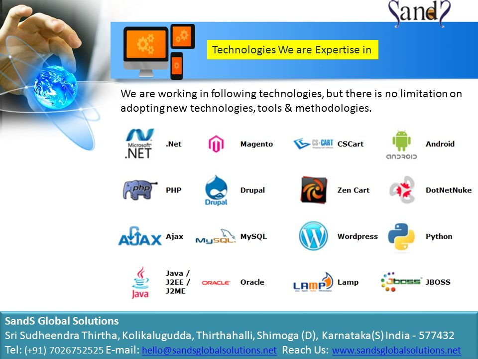 Technologies We are Expertise in