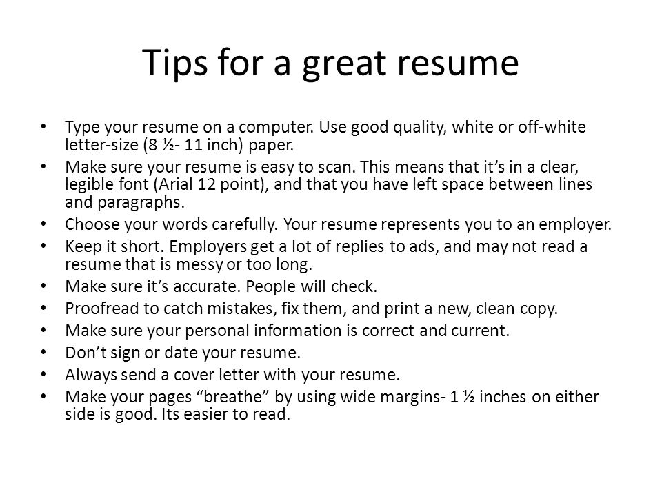 The Résumé A Resume Tailored To Fit The Job You Are Applying For Is One Of The Most Important