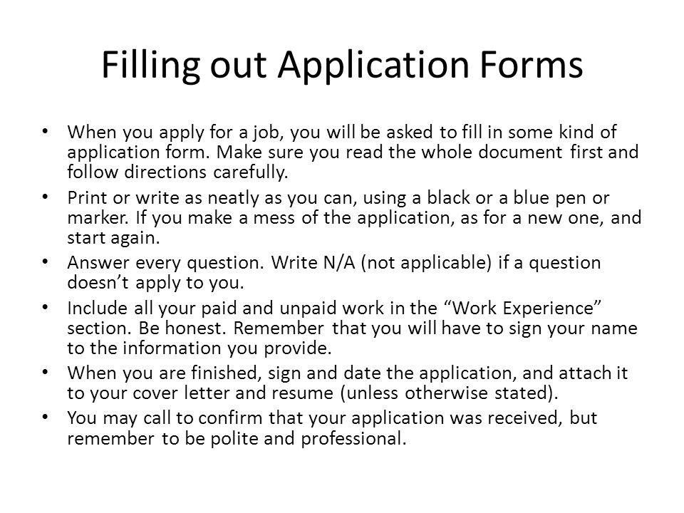 Hotel Job Application Form Job Application Form Fill Out A Resume