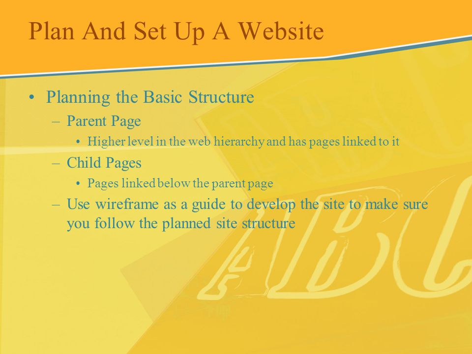 Plan And Set Up A Website