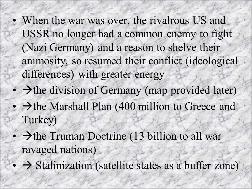 Wartime Conferences WWII Ppt Video Online Download - Us and ussr map