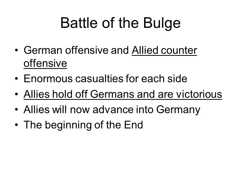 Battle of the Bulge German offensive and Allied counter offensive
