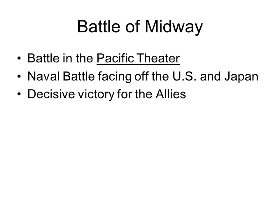 Battle of Midway Battle in the Pacific Theater