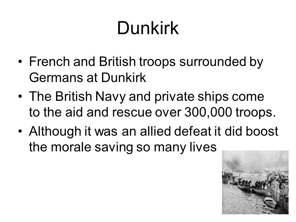 Dunkirk French and British troops surrounded by Germans at Dunkirk