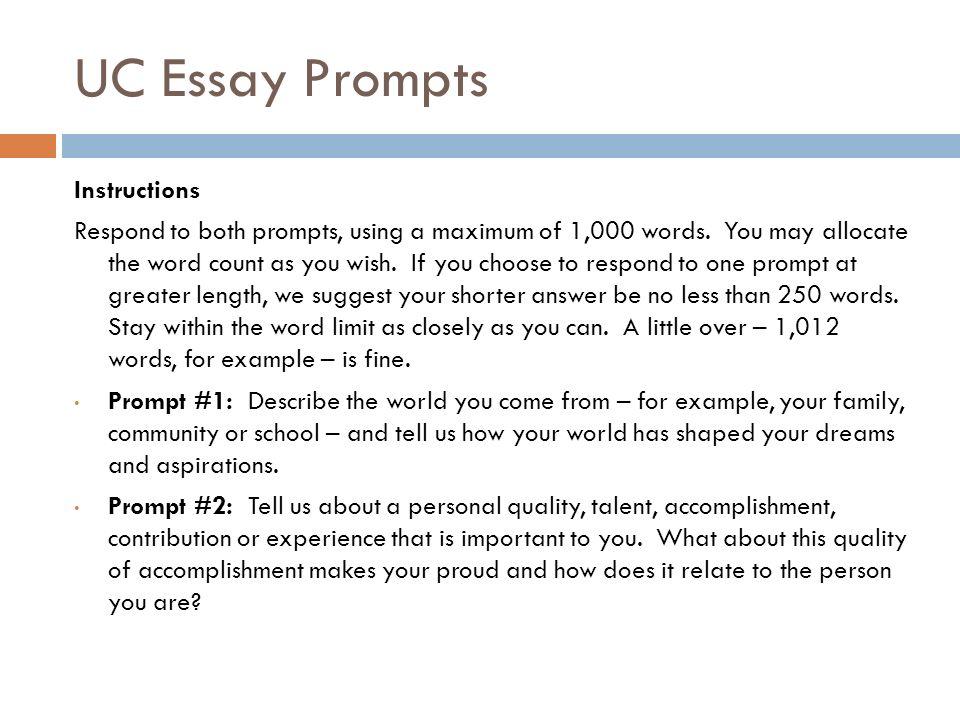uc essay prompt