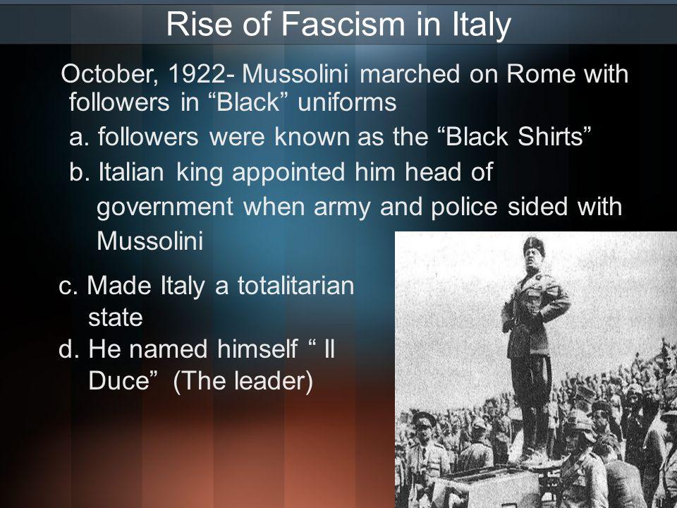 fascism impact on italy