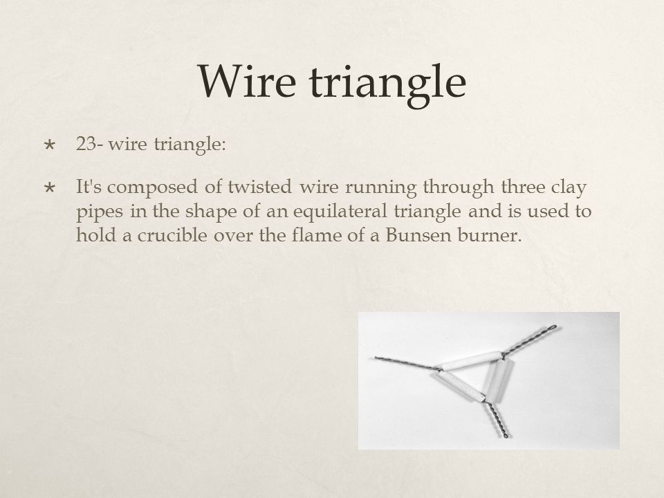 Great Wire Triangle Chemistry Images - Electrical Circuit Diagram ...