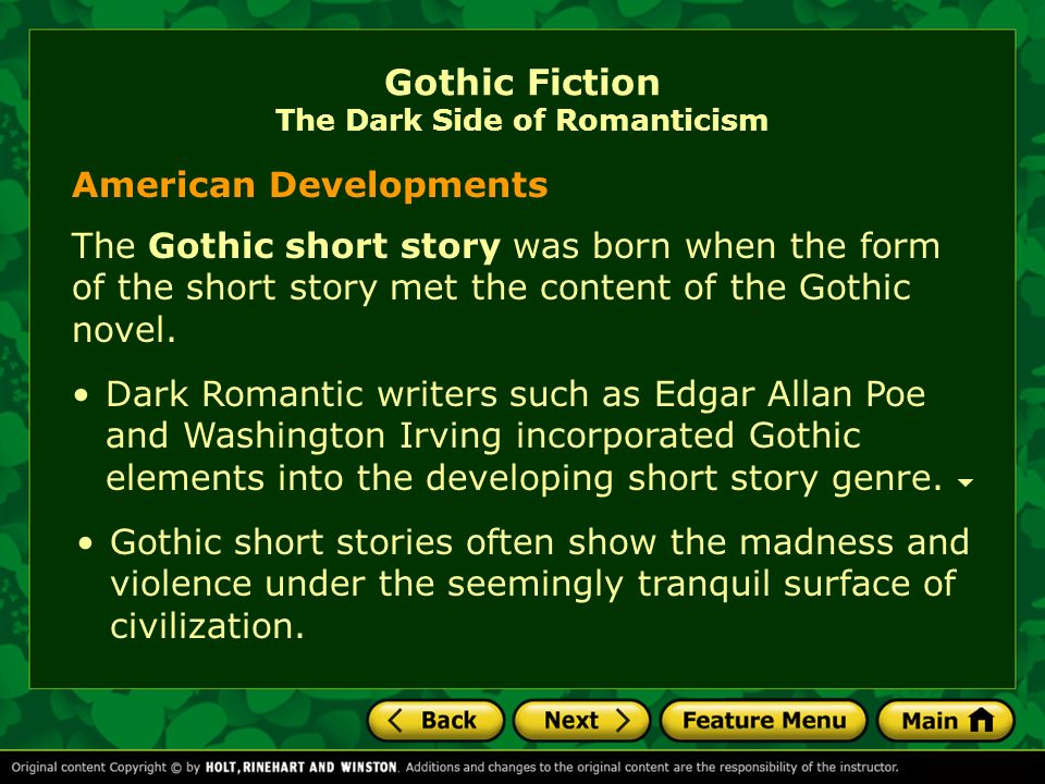 gothic short stories An introduction to the gothic genre and its conventions includes tasks on the tell-tale heart and the yellow wall-paper a full unit of work.