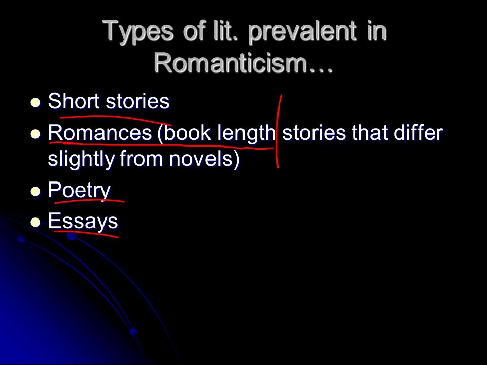 an analysis of elements of romanticism used by writers in the romantic period Originally, romanticism referred to the characteristics of romances, whose  for a  school of literature opposed to the classic was first used by the german critic karl  wilhelm  from germany, this meaning was carried to england and france   they are not, in fact, the exclusive property of the romantic period, but it is here.