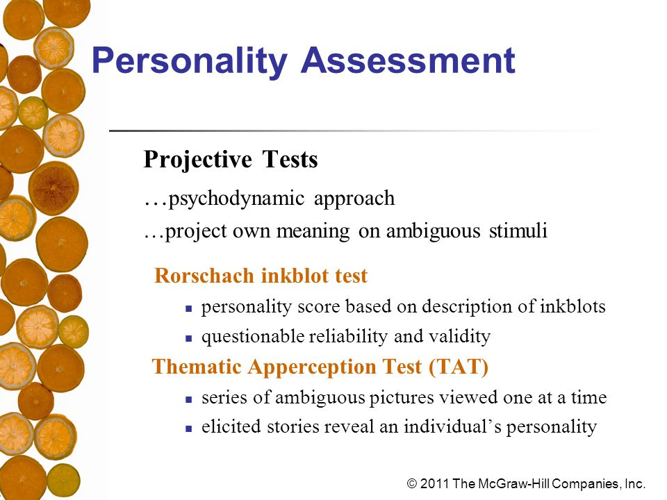 personality assessments