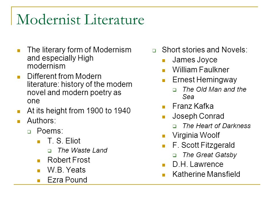 modernism modernist literature ppt video online  8 modernist literature