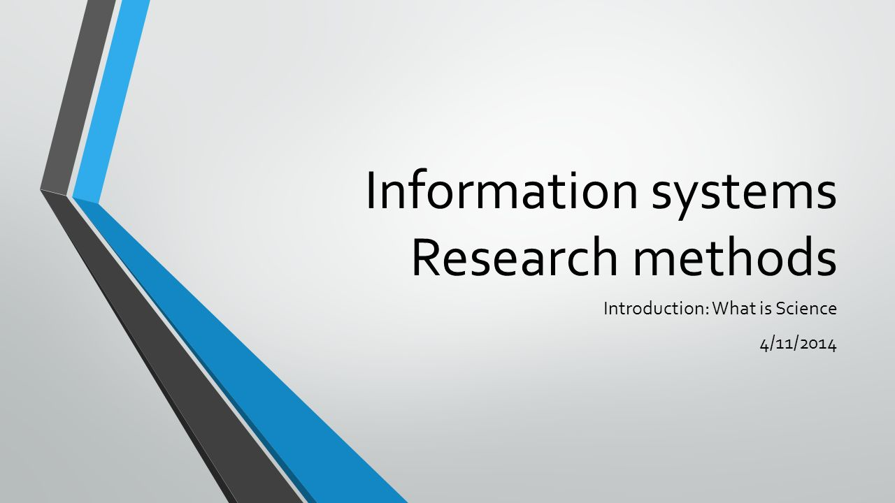 Information Systems Research Methods Ppt Video Online Download