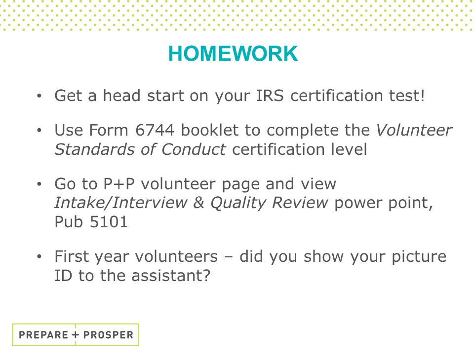 Basic A volunteer training Tax year ppt download