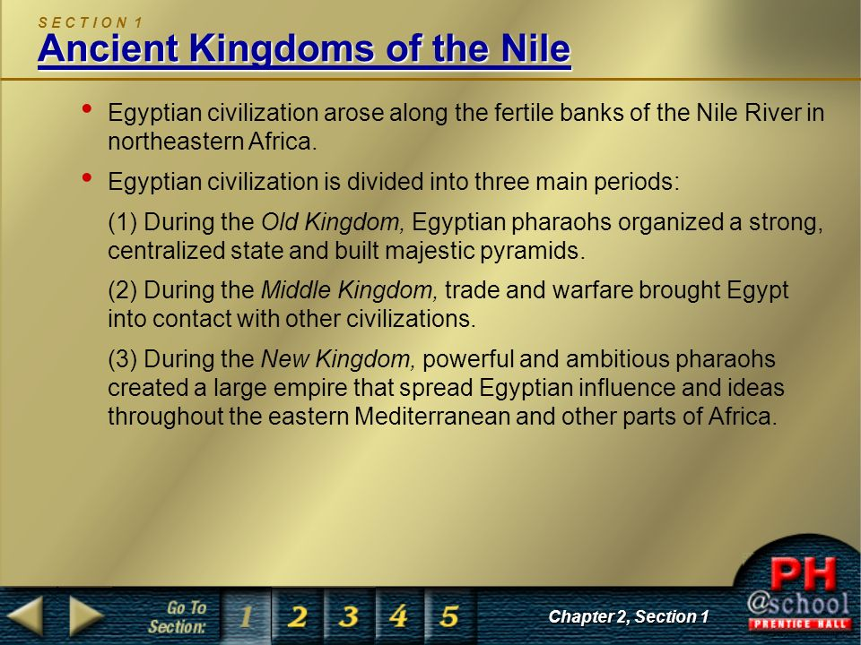 S E C T I O N 1 Ancient Kingdoms of the Nile
