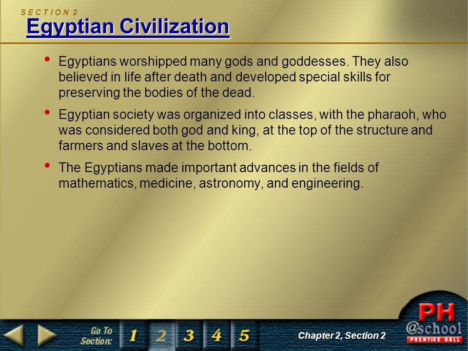 S E C T I O N 2 Egyptian Civilization