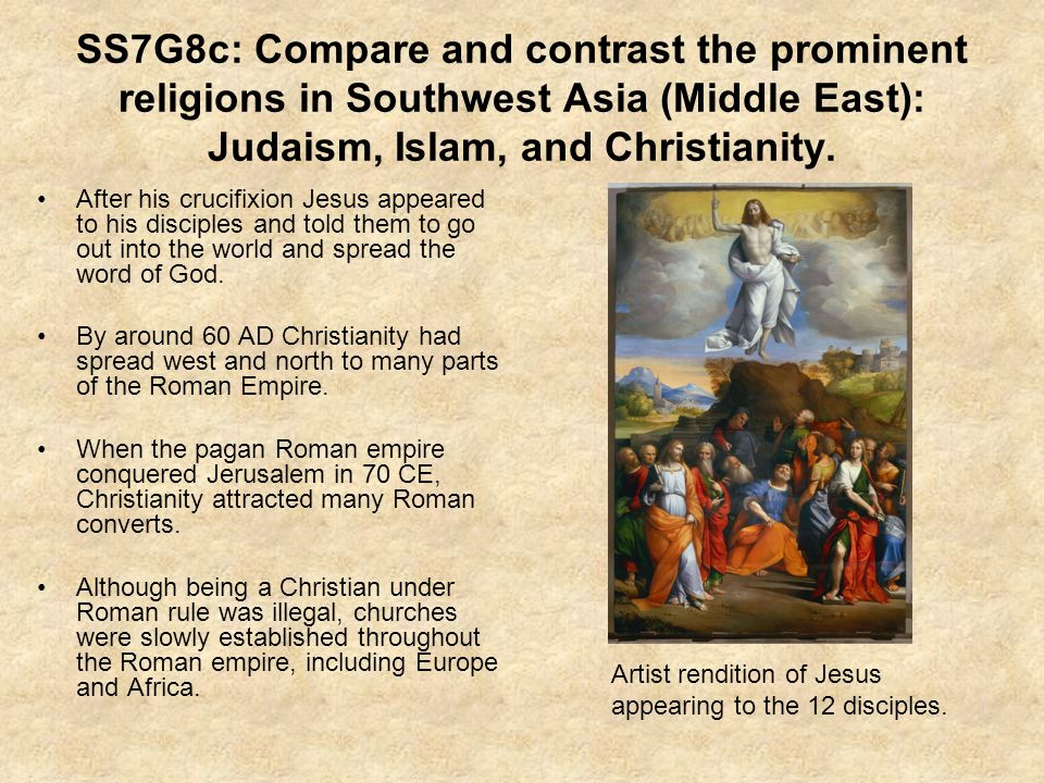 compare and contrast the spread of christianity and islam essay Compare and contrast islam and christianity history other essays compare and contrast islam and christianity cathy smith very significant in the spread of.