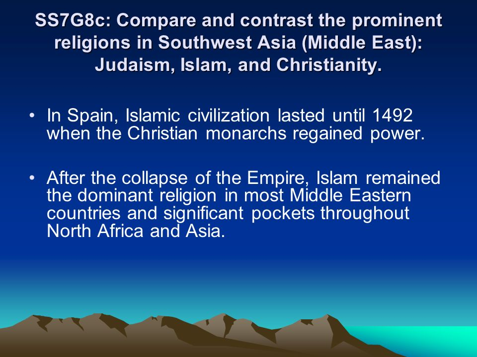 compare and contrast essay of christianity and islam Comparison chart -- islam and christianity by nsrk ravi belief islam christianity in islam, the trinity is.