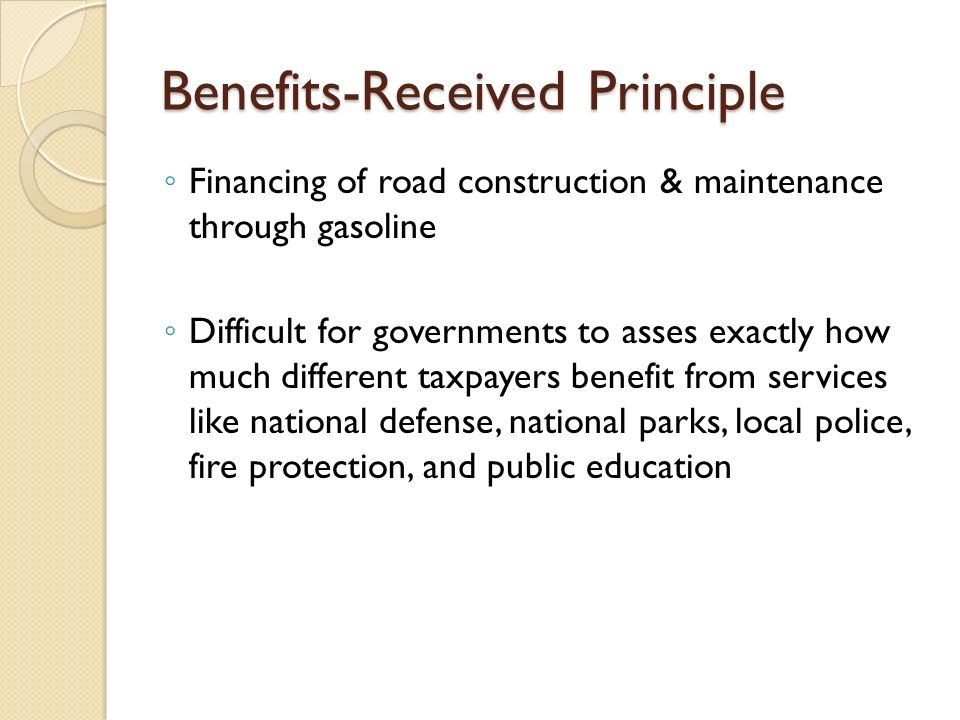 Benefits-Received Principle