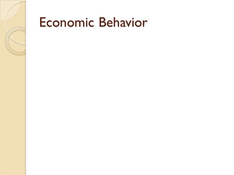 Economic Behavior