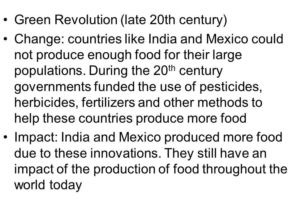 Green Revolution (late 20th century)