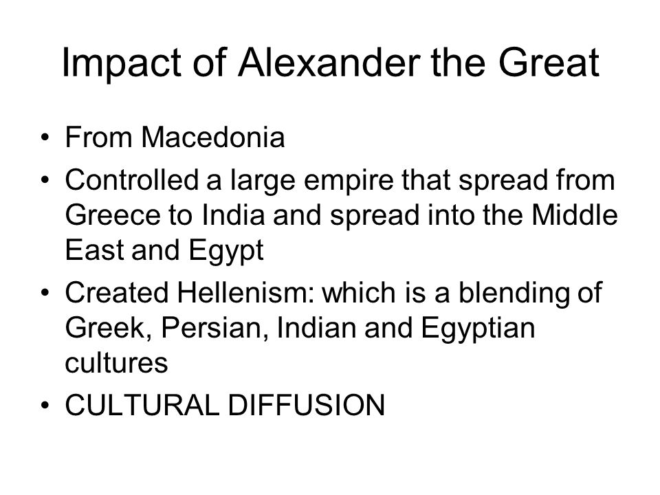 Impact of Alexander the Great
