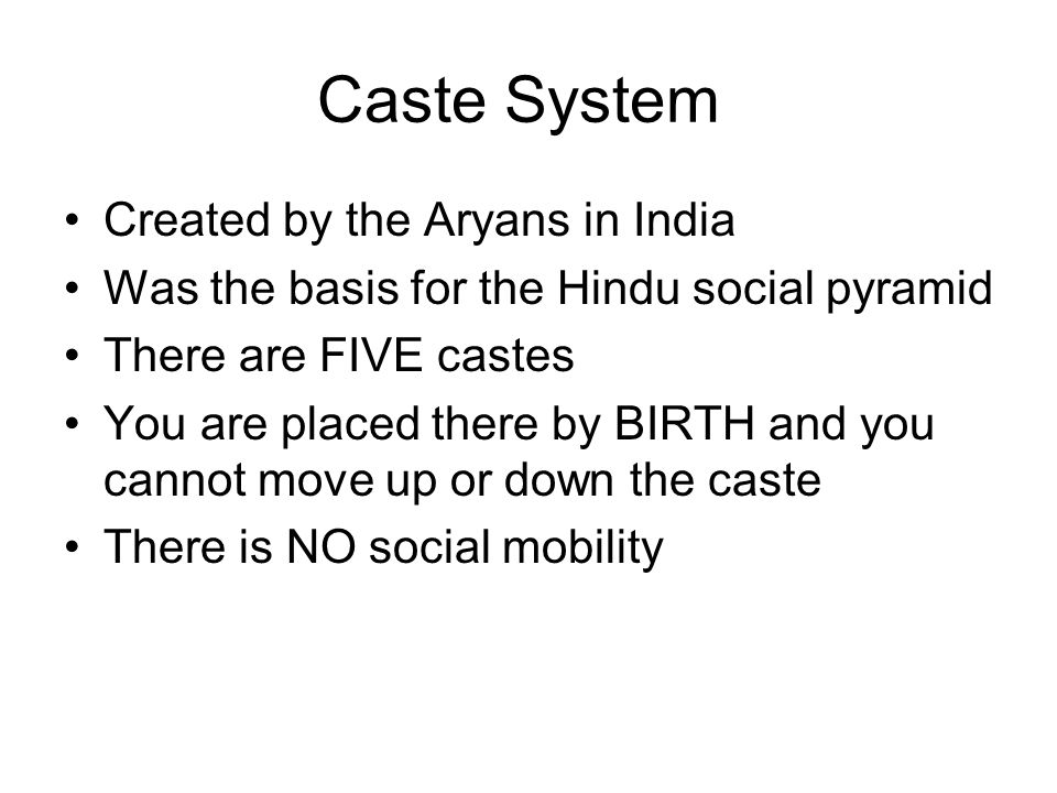 Caste System Created by the Aryans in India