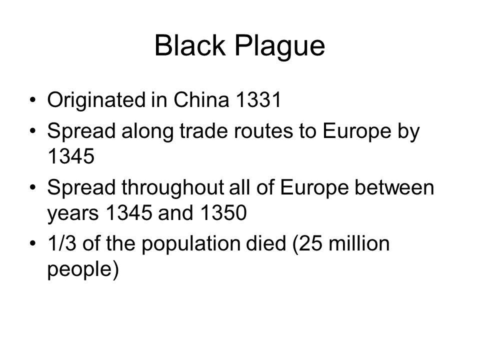 Black Plague Originated in China 1331