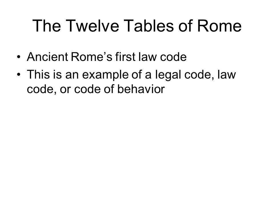 The Twelve Tables of Rome