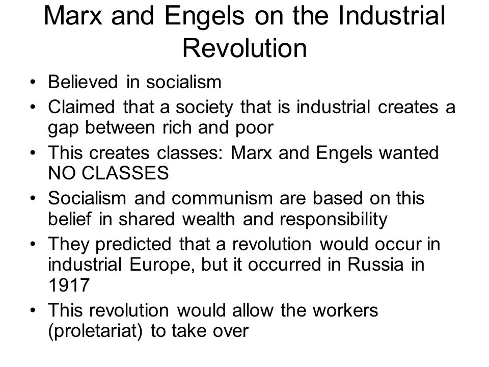 Marx and Engels on the Industrial Revolution