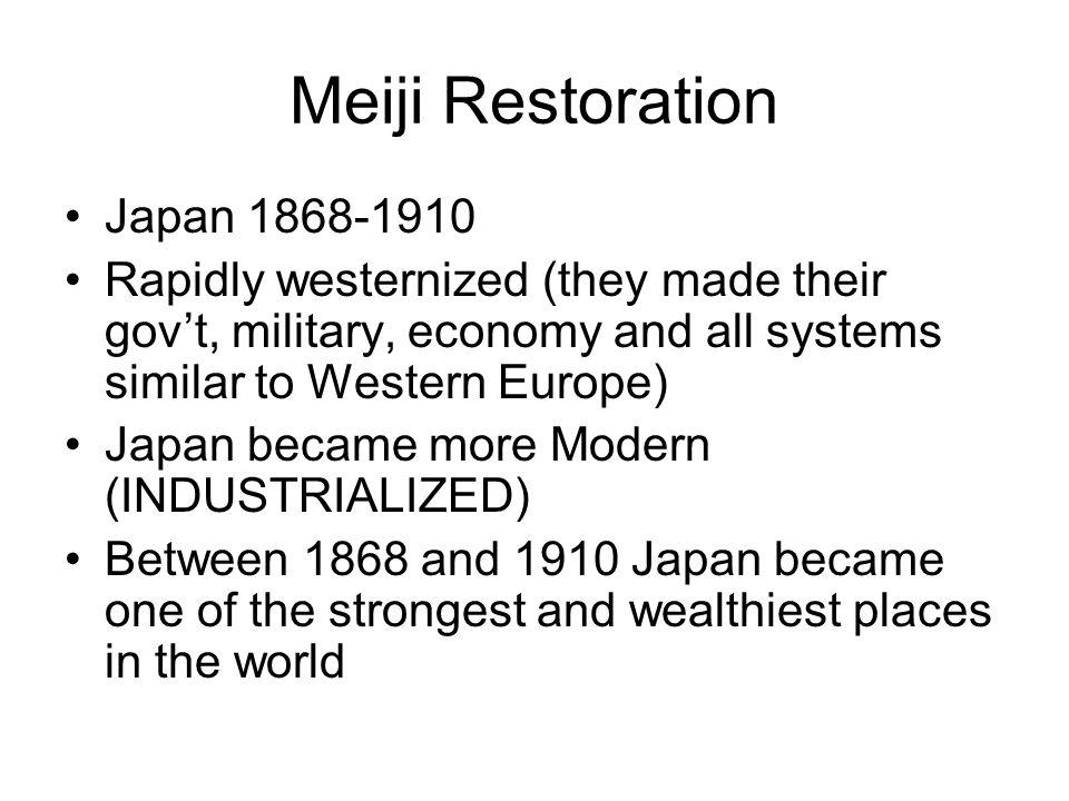 Meiji Restoration Japan 1868-1910