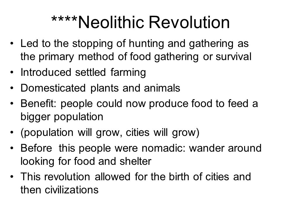 ****Neolithic Revolution