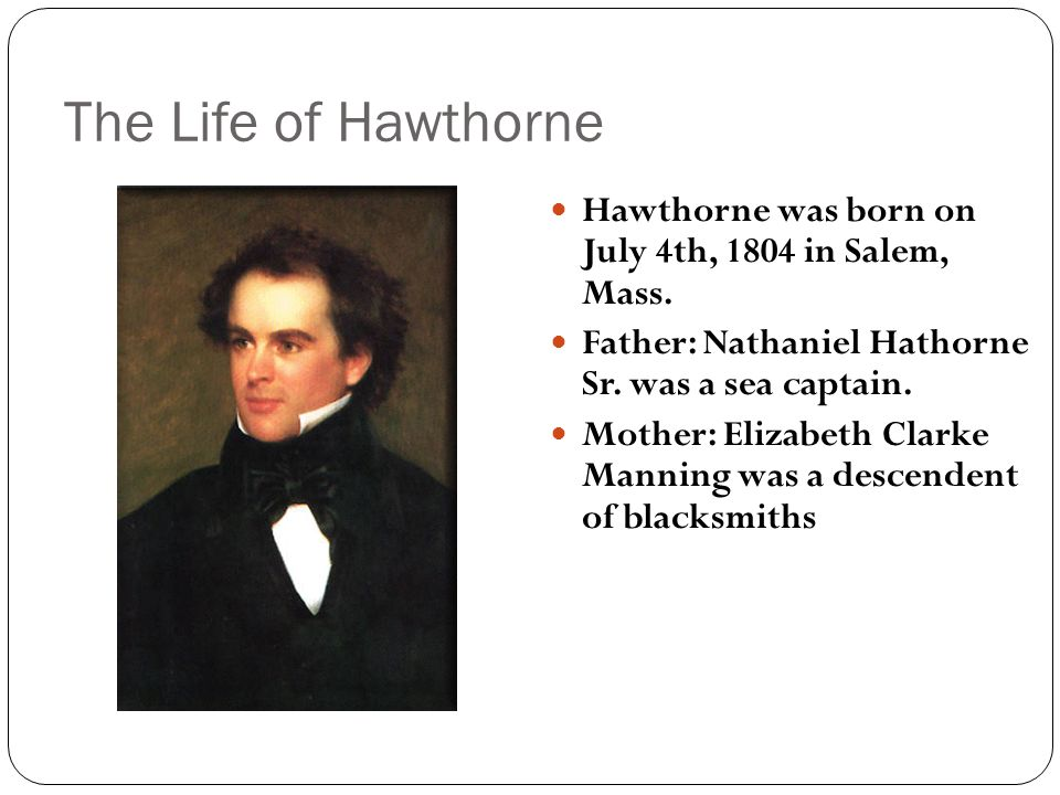 """two short stories of nathaniel hawthornes Discussion questions for """"the birthmark in the short story author nathaniel hawthorne describes but when there is happiness and love between two."""
