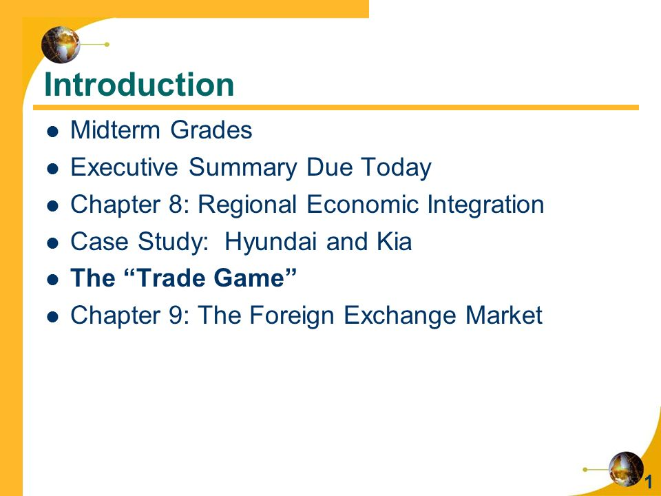 Introduction Midterm Grades Executive Summary Due Today