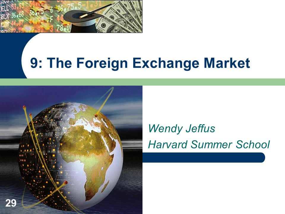 9: The Foreign Exchange Market